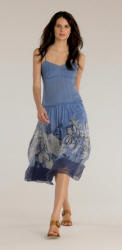 Annabel dress in cornflower blue �75 Monsoon Women Spring/Summer 2006. Image courtesy of Monsoon.